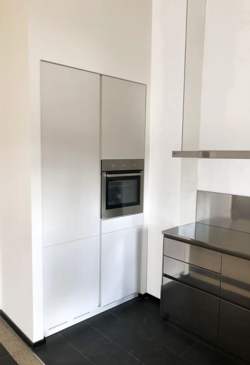 003 modif C184 Cucina in acciaio inox e bianco Steellart