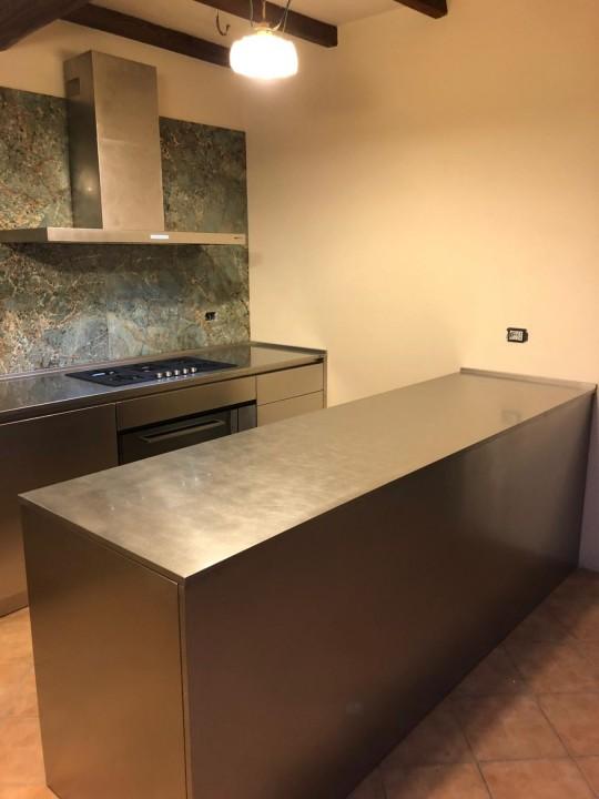 006(1) C178 Cucina in acciao inox finitura vintage Steellart
