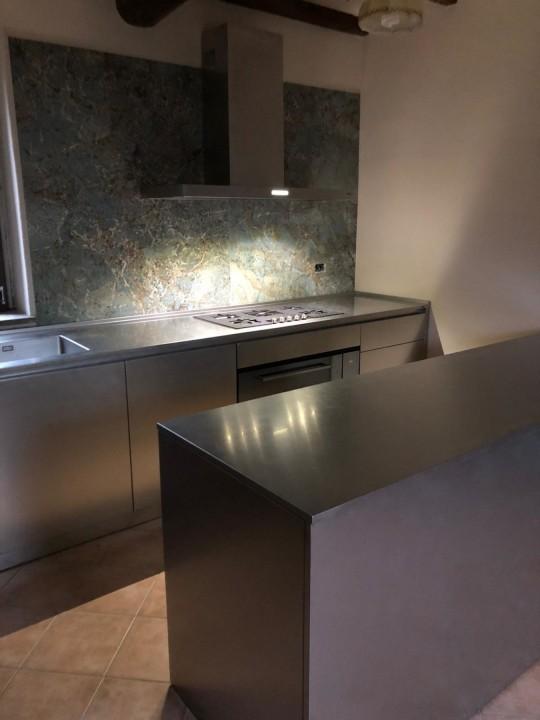 008(1) C178 Cucina in acciao inox finitura vintage Steellart