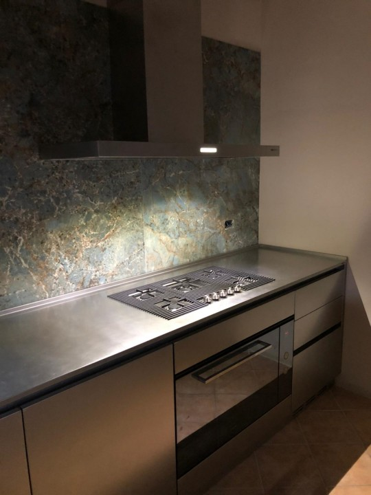 010(1) C178 Cucina in acciao inox finitura vintage Steellart