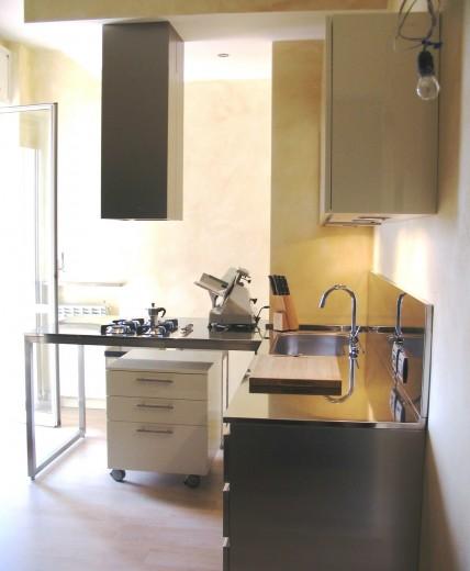 11111 C17 cucina  ad  angolo lavaggio /cottura ,inox Steellart