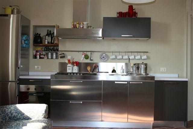 C06 blocco inox da 180 cm cucine steellart piacenza - Blocco cucina acciaio ...