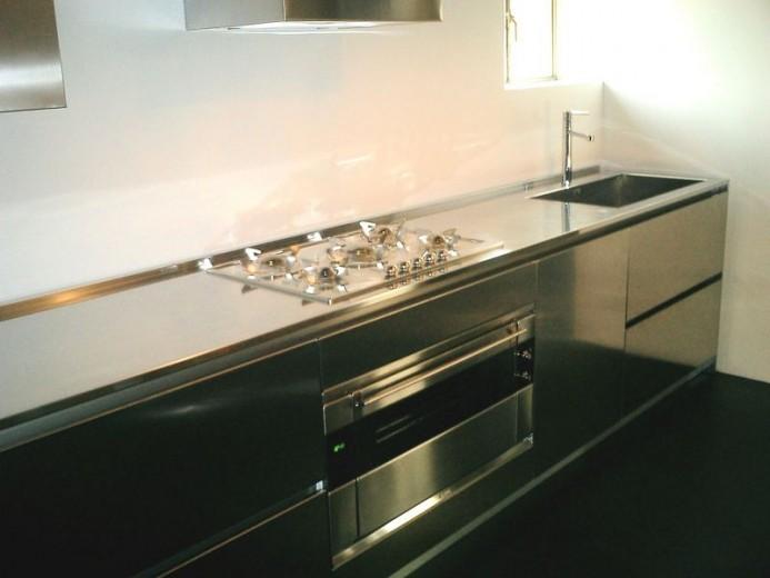 C021 Blocco cucina in acciaio inox L 4 metri - Cucine in acciaio ...