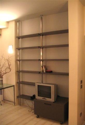 1233683602 ID22 Libreria inox-legno Steellart