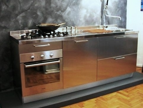 1268473898 C22 Stainless steel kitchen centre width 210 cm Steellart
