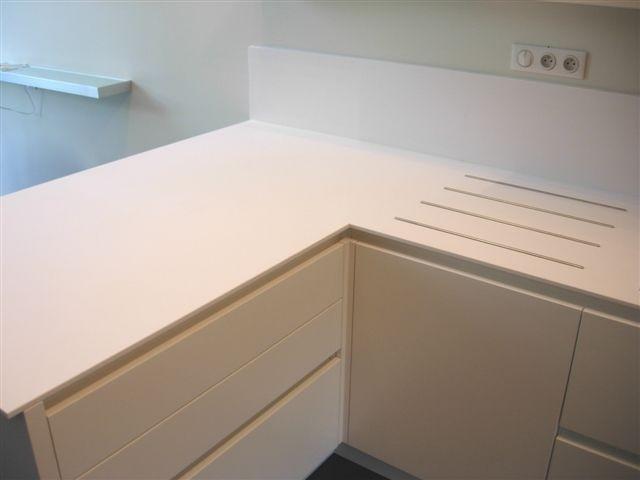 C31 Top in Corian ad angolo - Küchen - Steellart