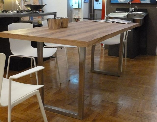 1359816956 A12 Tavolo inox e legno Steellart