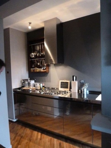 1387032737 C58 cucina in acciaio  inox  L 350 cm Steellart