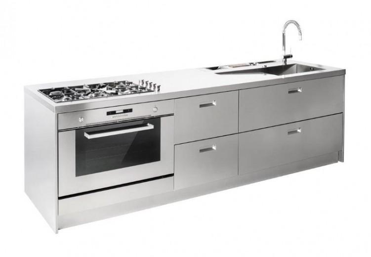 C65 Blocco cucina full inox lineare - Cucine - Steellart - Piacenza