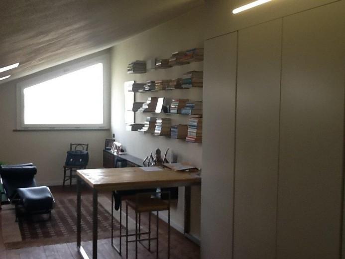 Ale sop6 18 giu. A13  libreria in  ferro su  soppalco Steellart