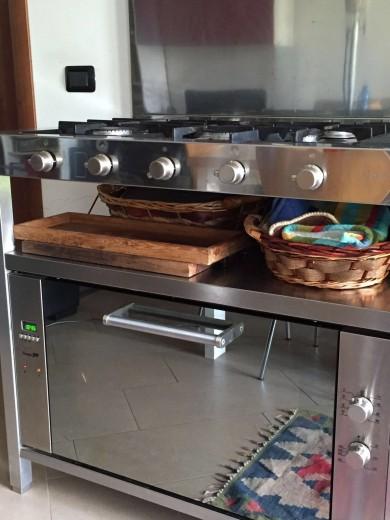 Cucina a unità freestanding in acciaio inox