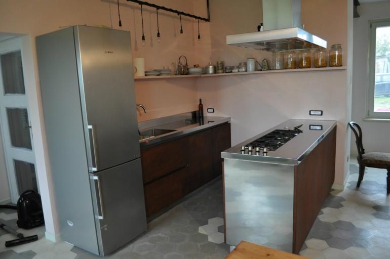 blocco cucina in acciaio inox