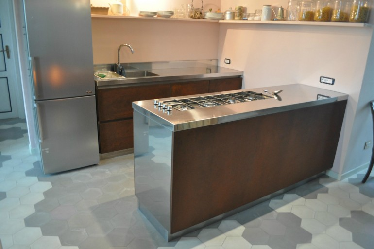 Arch repetti 3(1) C70 Stainless steel  and  Cor.ten Kitchen Steellart