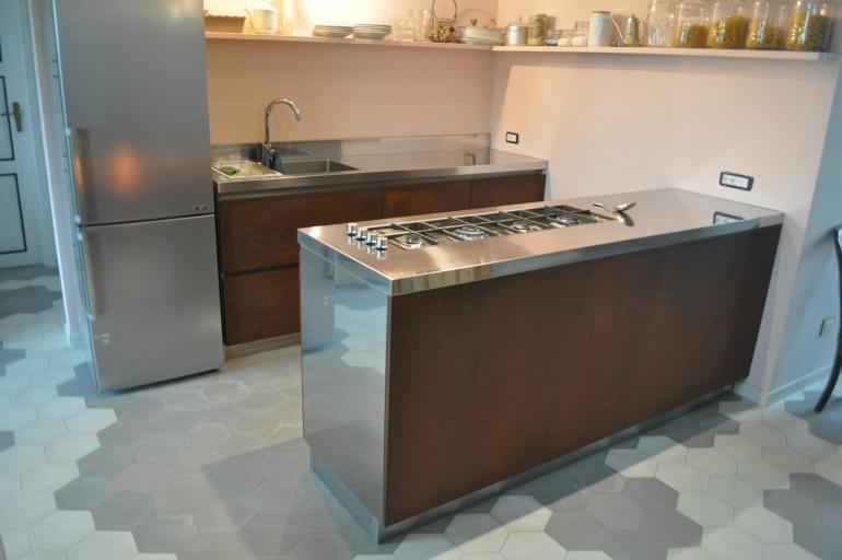 blocco cucina in Corten