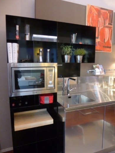 Black Kitchen 2 rid. 10 febbraio 2015 C 68  steel and  stainless steel wall  kitchen Steellart