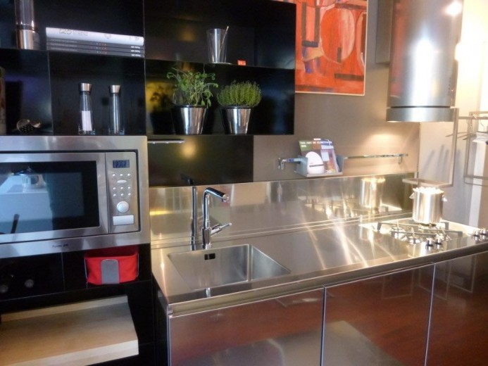Blackitchen 3 ridk 10 febb 2015(1) C 68  steel and  stainless steel wall  kitchen Steellart