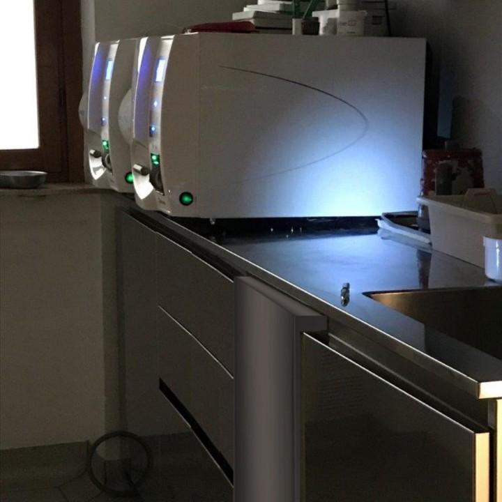 Blocco inox per sterilizzatrici 1d frigo sparito C168 camera di sterilizzazione per studio dentistico Steellart