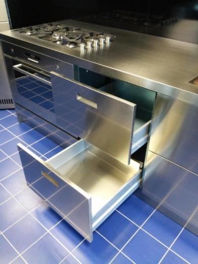 C65 blocco cucina full inox lineare cucine steellart piacenza - Blocco cucina acciaio ...