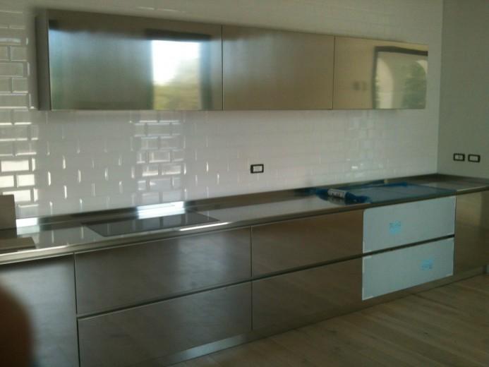 C83 Cucina inox a parete L 430 - Cucine - Steellart - Piacenza