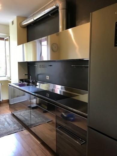 cucina a parete full inox