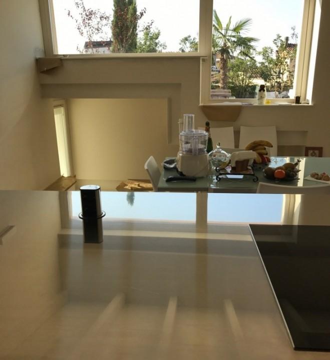 C132 cucina a parete con isola cottura cucine for Cucina con isola cottura