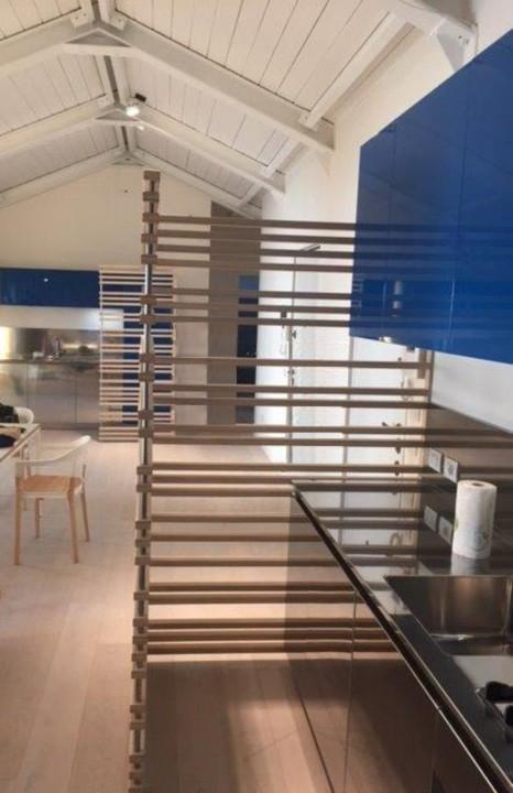 cucina inox a parete