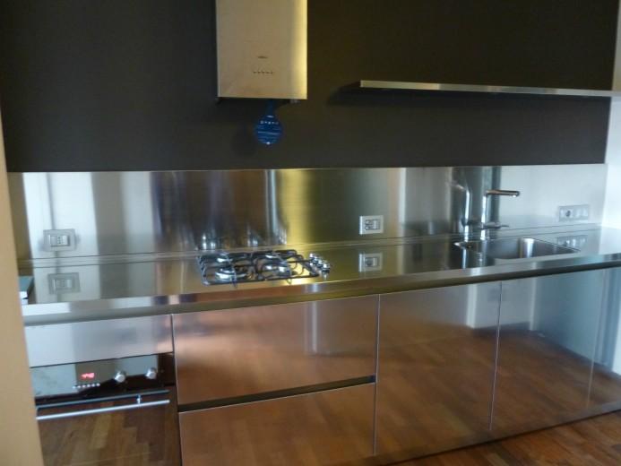 Civardi 005 C51 Cucina in acciaio  inox a parete L 325 Steellart