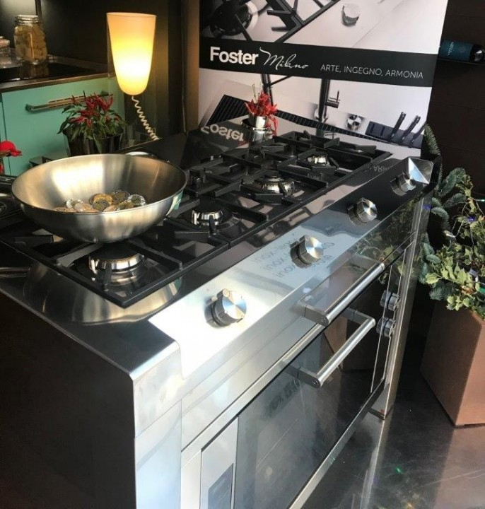 Cooking station Foster Milano da 120 3 rid. Cooking station Foster Milano Steellart