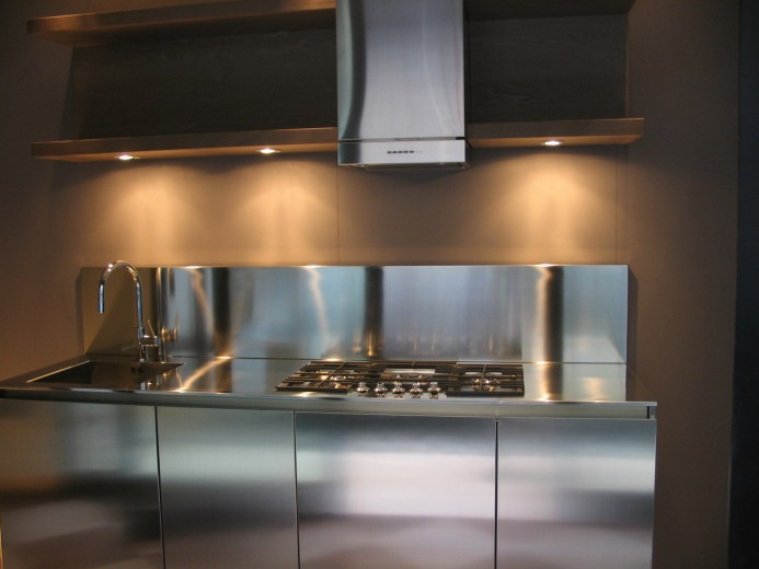 C 81 blocco cucina inox l 210 cucine steellart piacenza - Blocco cucina acciaio ...