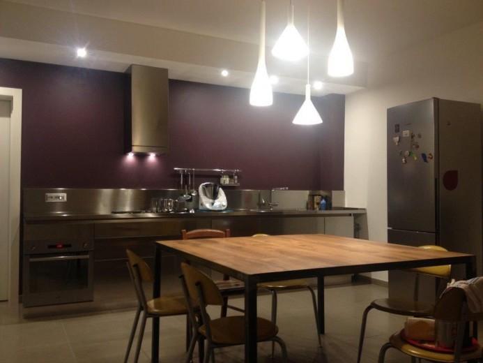 Cucina full inox  a  parete L 405cm