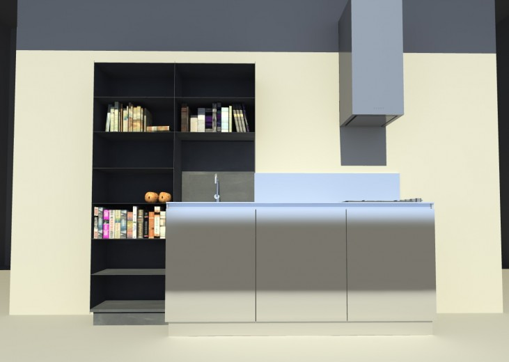 Cucina inox ferro attrezzata 2 30 giugno 2014(1) C 68  steel and  stainless steel wall  kitchen Steellart
