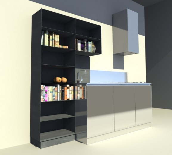 Cucina inox ferro attrezzata 30 giugno 2014 C 68  steel and  stainless steel wall  kitchen Steellart
