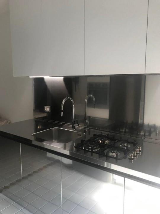 Draghi s7rid 2  C 146 Blocco cucina in acciaio inox e pensili white Steellart