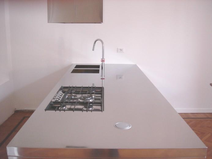Fedrizzi 10 C68 Stainless steel peninsula kitchen centre Steellart