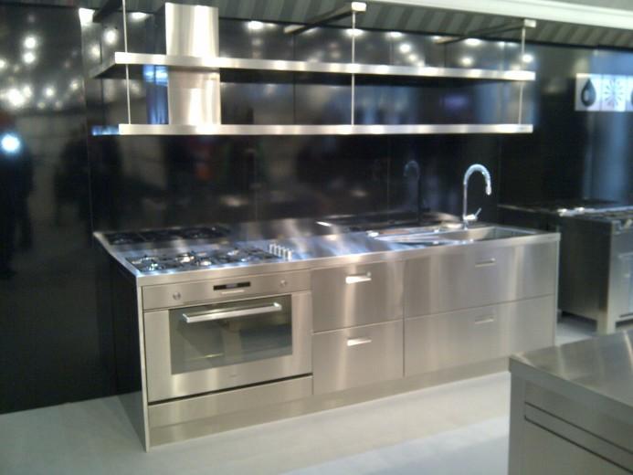 C65 blocco cucina full inox lineare cucine in acciaio inox cucine di design cucine moderne - Blocco lavello cucina ...