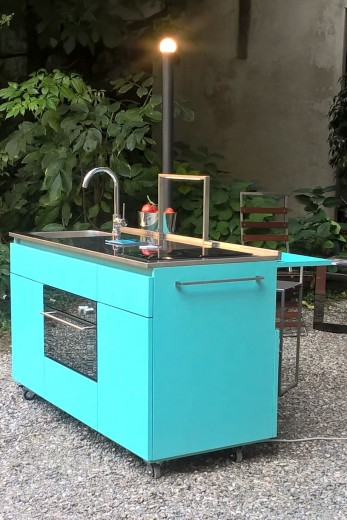 Giorgi na 4rid 2 settembre Giorgi-na minikitchen on wheels Steellart