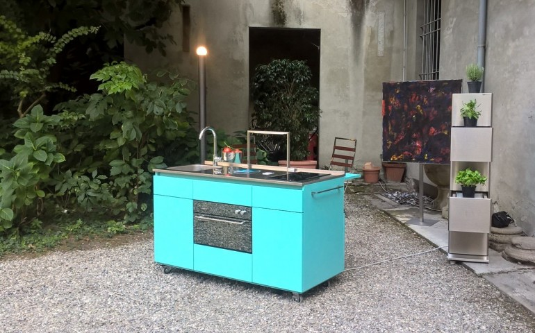 Giorgi na 5rid. 2 settembre(2) C73 New! Giorgi-na minikitchen on wheels Steellart