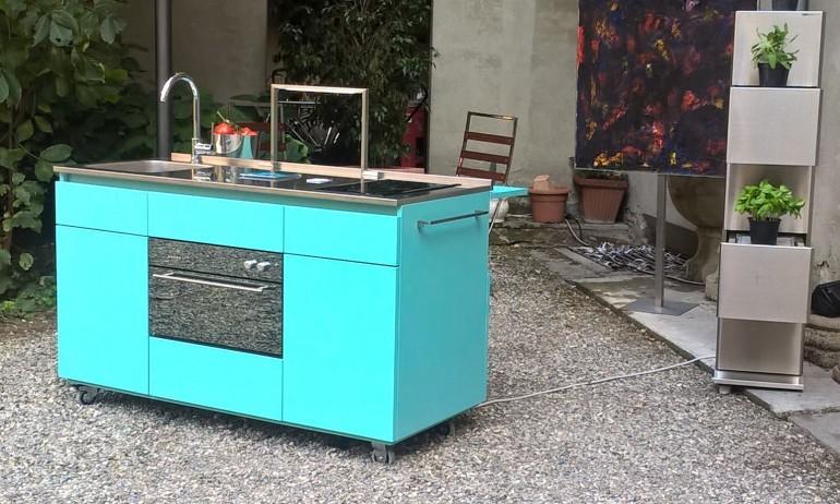 Giorgi na 6rid 2 settembre Giorgi-na Miniküche auf Rädern Steellart