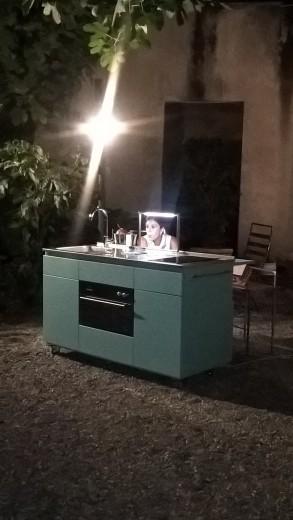 Giorgi na 8rid 2 settembre Giorgi-na Miniküche auf Rädern Steellart