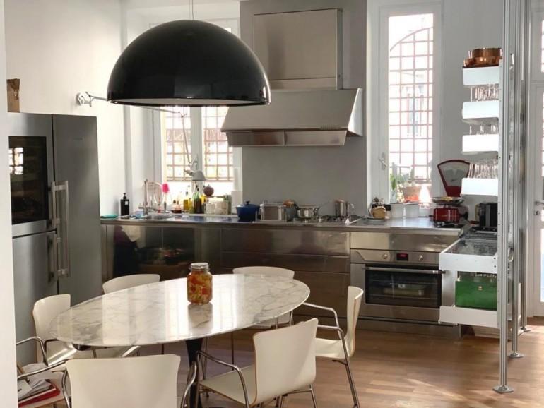 Giovanni 3 rid rid Milano febbraio2020 2  C173 blocco cucina inox L 350cm con cappa Steellart