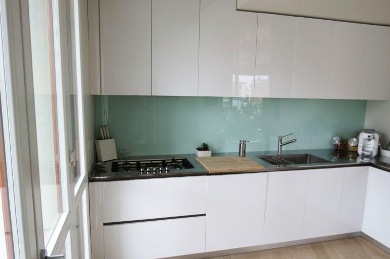 C36 Cucina ad angolo a parete L 341 cm - Cucine in acciaio inox ...