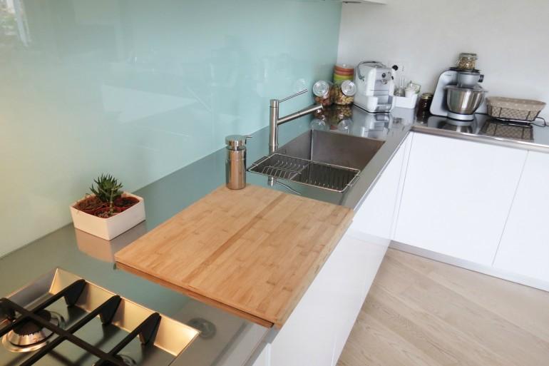 IMG 3797 C36 Cucina ad  angolo a parete L 341 cm Steellart