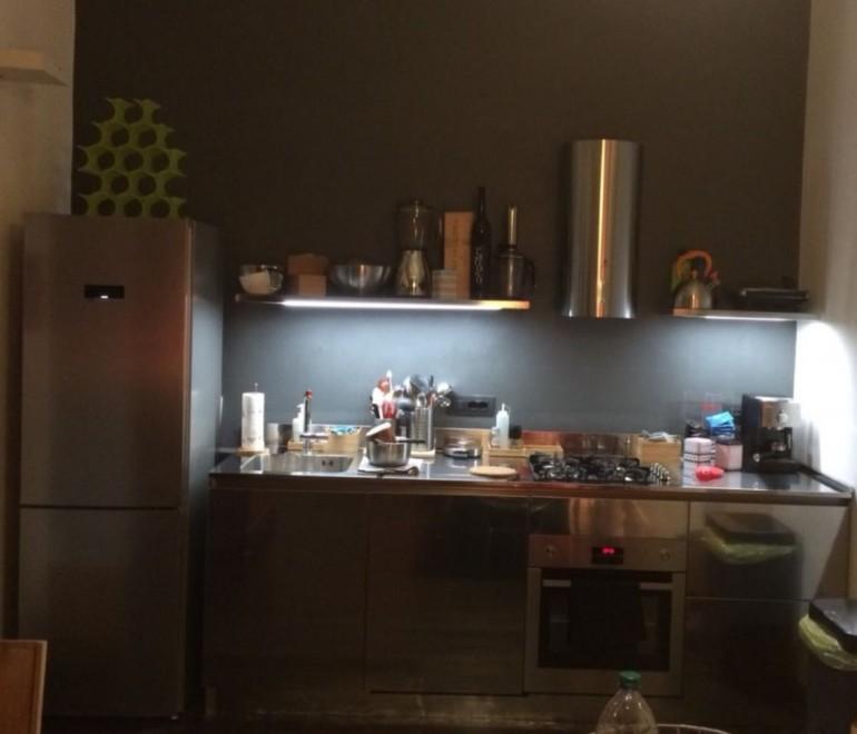 C144 Cucina in acciaio inox a parete L 240 - Cucine in ...