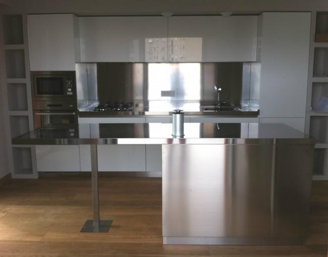 C71 cucina a parete con bancone a isola - Cucine - Steellart ...