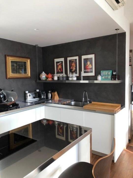 cucina inox/bianco