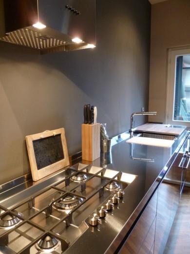 Mazzoni arredata 5 2014 C58 cucina in acciaio  inox  L 350 cm Steellart