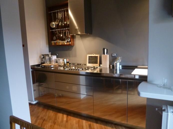 Mazzoni arredata 6 2013(1) C58 Stainless steel kitchen centre width 350 cm Steellart