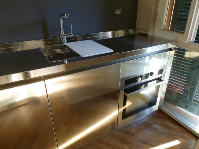 Mazzoni forno nov. 2013 C58 Stainless steel kitchen centre width 350 cm Steellart