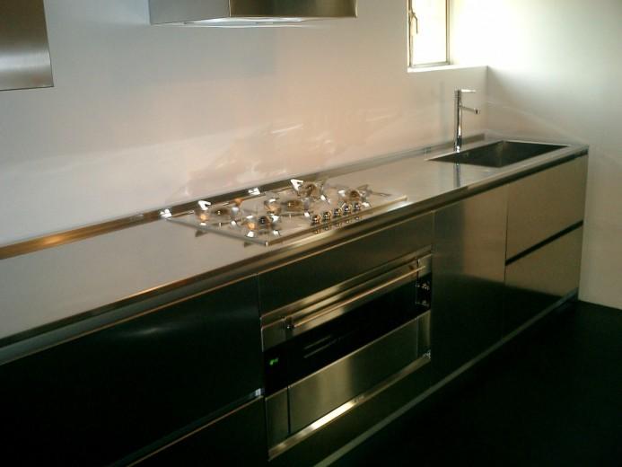Cucina in acciaio inox L 4m