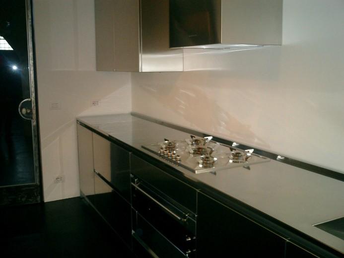 C021 blocco inox 4 metri cucine steellart piacenza for Cucina quadrata 2x2